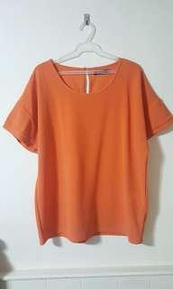 Plus Size orange shirt