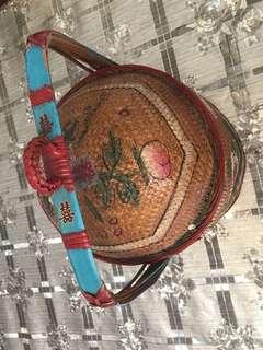 Antique wedding basket