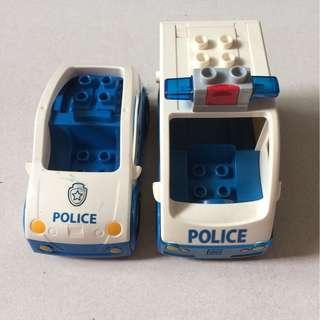 Preloved Lego Duplo Police Cars