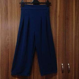 Teal blue palazzo flowy square pants