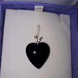 Lady's Blue Goldstone heart pendant