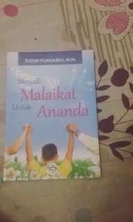 Buku Novel menjadi malaikat untuk Ananda