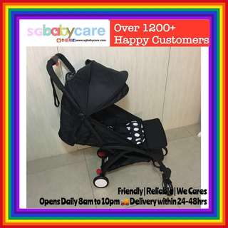 2018 1 Hand Close Full Recline Compact Stroller - Mickey