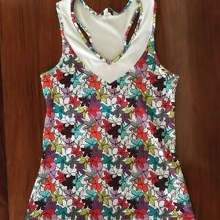 New Balance colorful floral top