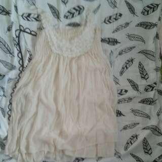 Short cream dress