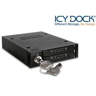 """台灣名廠 ICY Dock MB992SK-B 2bay 專業級 2.5"""" SATA HDD Mobile Rack 硬碟抽取盒 - 原裝行貨"""