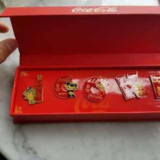 可口可樂 襟章 coca cola 絕版 2008奧運