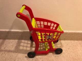 Kids toy supermarket cart