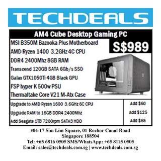 MSI Cube Desktop AM4 Gaming PC