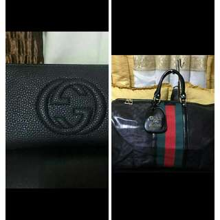 buy gucci s55 traveling bag w/sling get gucci black long wallet for free😍😍😍