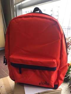Etoffe Orange Bagpack