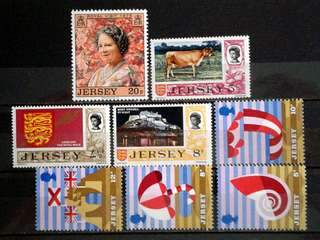 Jersey unused stamps