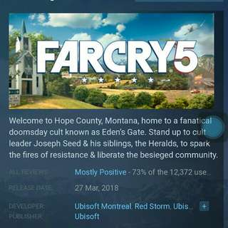 Far Cry 5 for STEAM