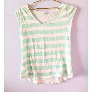 Promod Green Striped Shirt