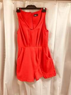Dotti jumpsuit/ skort in bright red