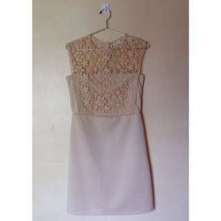 Pretty Girl Nude Lace Dress