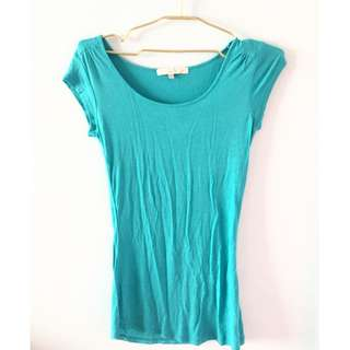 Cache Cache Plain Blue Shirt