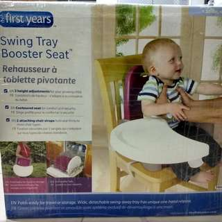 Brand New The First Year Swing Tray Booster Seat