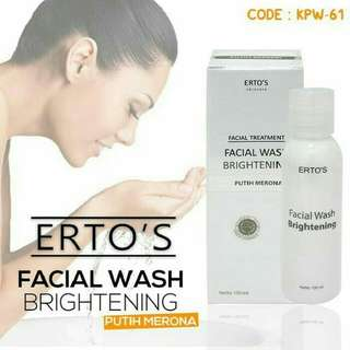 ERTOS FACIAL WASH BRIGHTENING BPOM / SABUN MUKA ERTO'S ORIGINAL