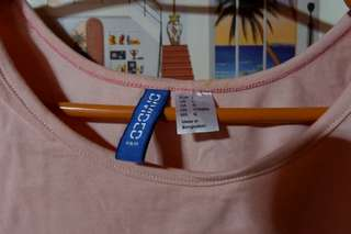 H&M divided pink cropped top shirt