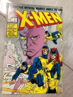 X-Men Comics index #1