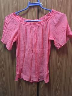 Salmon Pink Summer Blouse