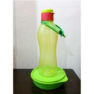 Tupperware Eco Bottle Fliptop Cap 750ml + Tupperware Round Small Container