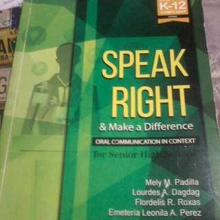 Speak Right & Make a Difference Book