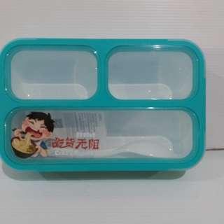 LUNCH BOX YOYEE MINI / SEKAT 3 / BENTO KIDS / LEAKPROOF / GRID