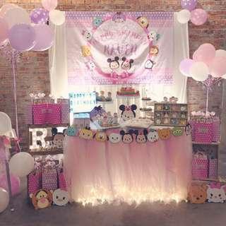 Tsum Tsum Birthday Party set up