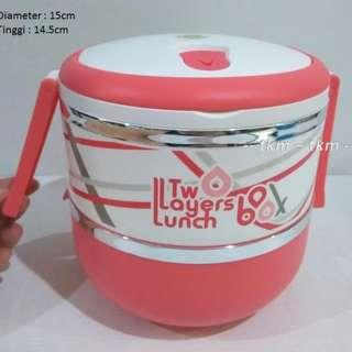 RANTANG 2 SUSUN / 8926 / LUNCH BOX / YOOYEE / 1,8 L / BPA FREE
