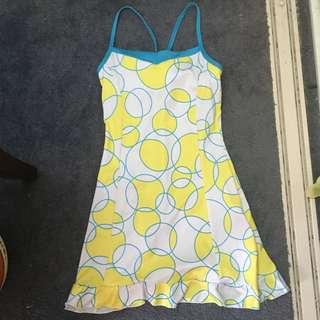 Yellow, White and Blue Tennis Dress Size XS
