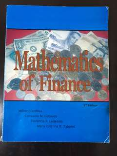 Mathematics of Finance by Wilson Cordova
