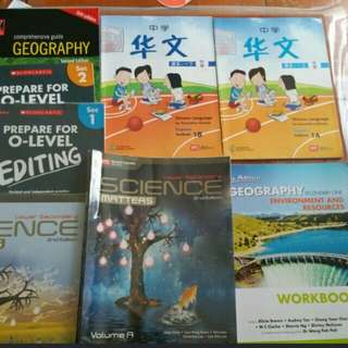 Sec 1-2 Textbooks for Science Geog English and Chinese