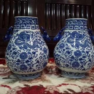 🚚 花瓶瓷器2個