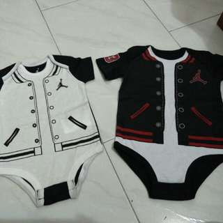 Jordan white red black breds romper 6 9 12 months newborn infant