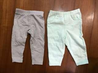 Carter's 6M 寶寶褲子兩件$100