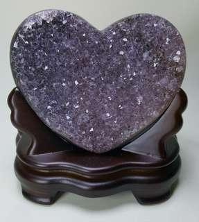 天然心形水晶