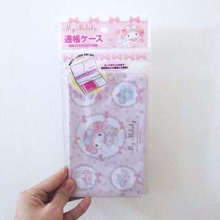 BNIP My Melody Pastel Baby Pink Bank Book Case Cheque Pouch Wallet Card Holder