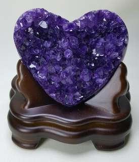 天然心形超紫水晶