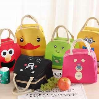Tas Bekal Anak Penahan Panas Motif Cartoon Lunch Bag