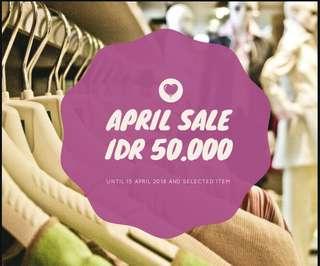 April Sale only IDR 50.000