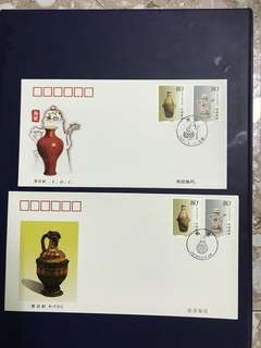 China stamp-2001-9 A/B FDC