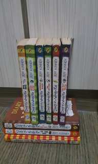 Diary of a wimpy kid (total 9, 3 are hard copies)