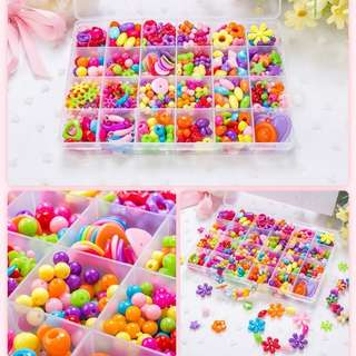 DIY handmade beaded baby toys educational toys for children with amblyopia training wear bead girl Necklaces Bracelets Educational Toys