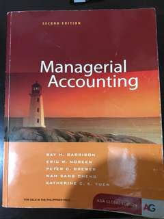 Manegerial Accounting (Asia Global Edition) by Ray Garrison