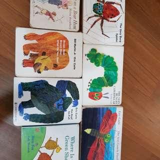 Eric Carle etc Hard cover children books