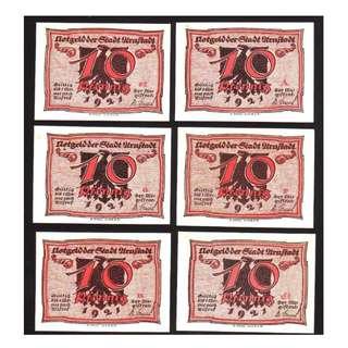 德國紙幣 x 6