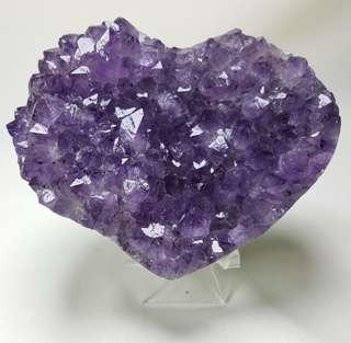 天然心型紫水晶