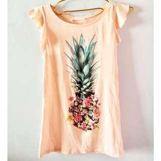 Bershka Pineapple Shirt